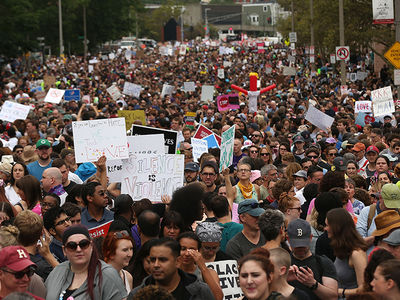 Boston 'Free Speech Rally' Overtaken by Thousands of Counterprotesters