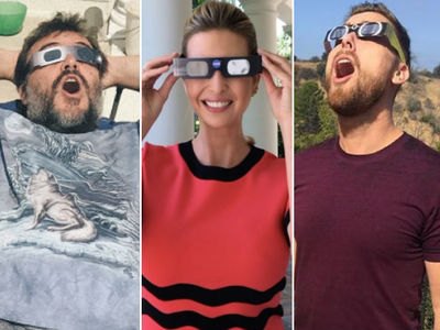 Solar Eclipse Totally Shades Hollywood Stars