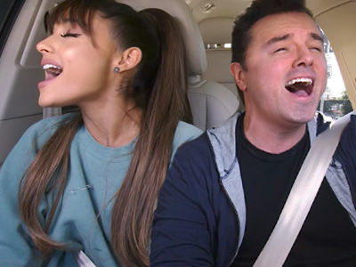 Ariana Grande and Seth MacFarlane BELT 'Little Shop of Horrors' In Magical 'Carpool Karaoke' Video