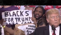 Donald Trump Rally, Guy with 'Blacks for Trump 2020' Sign Claims Hilary and ISIS Out to Kill Black and White Women
