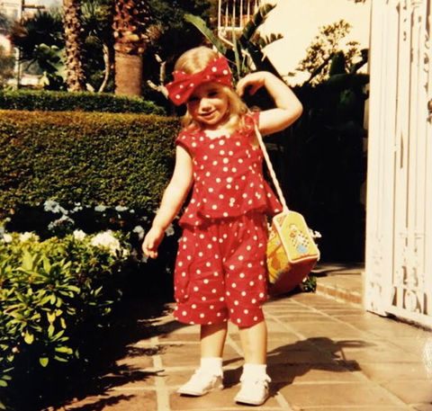 Before this matching girl was spotted in Hollywood, she was just another fashionable youngster from Guildford, Surrey.