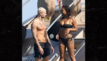 Christina Milian Frenching 'Voice' Coach Matt Pokora on a Yacht