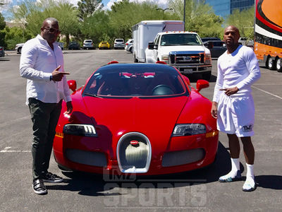 Floyd Mayweather Drops Millions On New Bugatti, Pre-Fight Present!