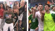 Conor McGregor's Irish Fans Cuss At Floyd Mayweather's Kids