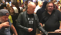 Bruce Willis Gambles at Craps Table in Vegas on Eve of Mayweather/McGregor Fight