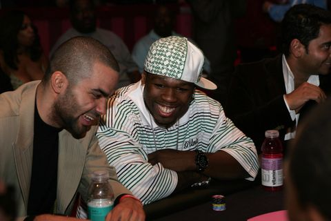 50 Cent and Tony Parker