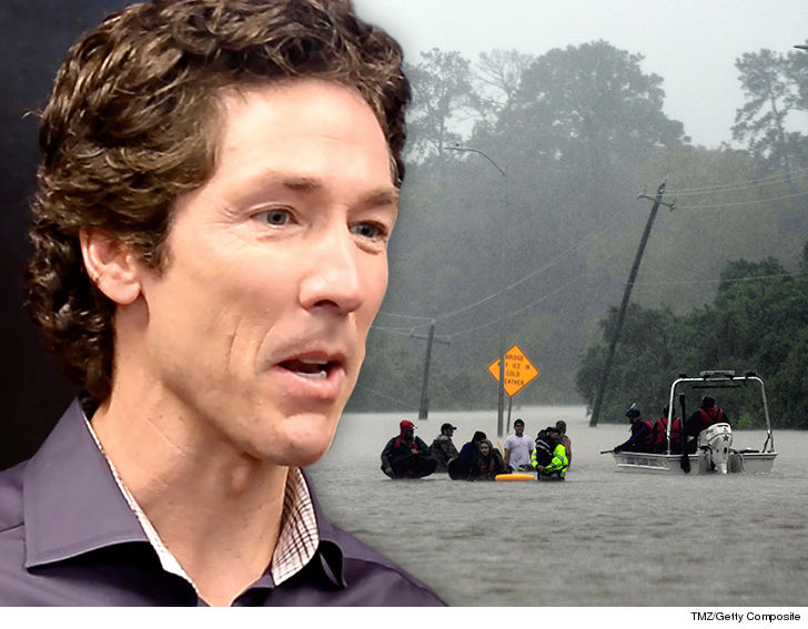 Joel Osteen opens church to storm victims after social media outrage