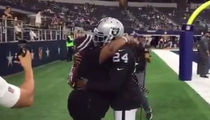 Marshawn Lynch: Hey Mom, Gimme a Hug!!!