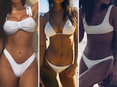 White-Hot Swimsuits -- Guess Who!