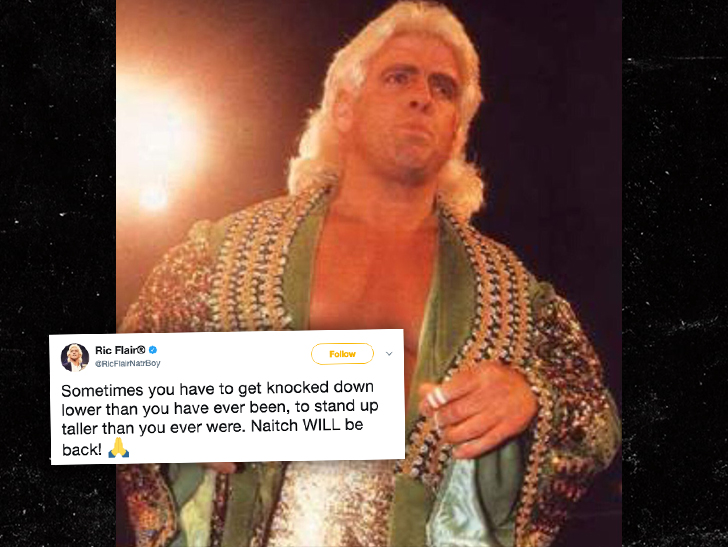 Ric Flair tweets positive message after scary hospitalization, surgery