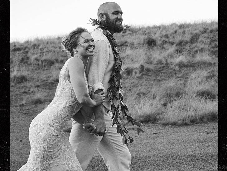 Ronda Rousey got married during Mayweather-McGregor