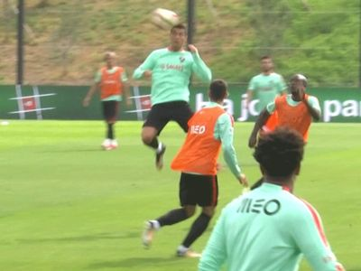 Cristiano Ronaldo Training with Portugal, Prepping for '18 World Cup
