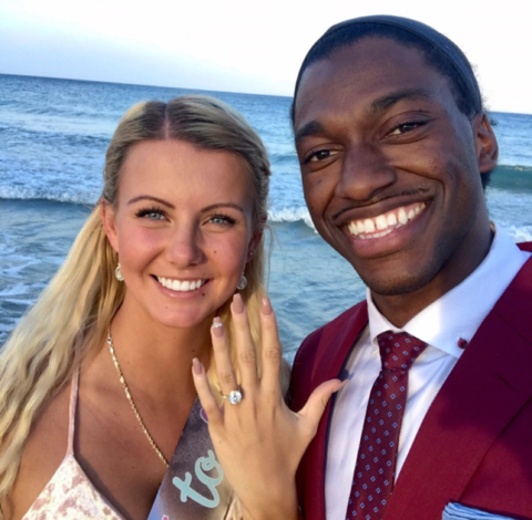 Robert Griffin III and Grete Sadeiko
