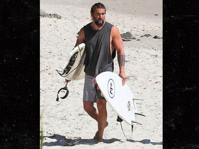 Jason Momoa Spends 'Aquaman' Break with Beer and Surf