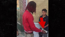 Fetty Wap Hands Out Stacks of Cash to Random Kids in New Jersey