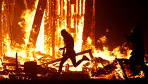Burning Man: Guy Runs Into Flames of Burning Statue, Dies from Injuries (UPDATE)