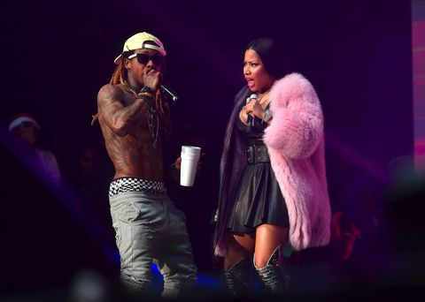 Lil Wayne and Nicki Minaj perform at Birthday Bash ATL The Pop Up Edition Concert at Philips Arena on June 17, 2017 in Atlanta, Georgia.