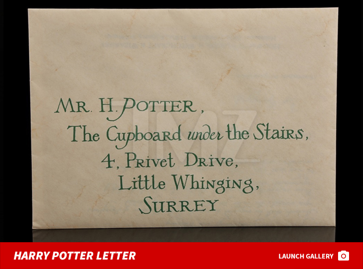 Harry Potter'S Hogwarts Acceptance Letter Up For Auction | Tmz.Com