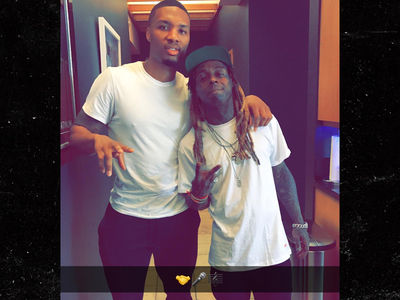 Lil Wayne Surfaces in Recording Studio with NBA Star Damian Lillard