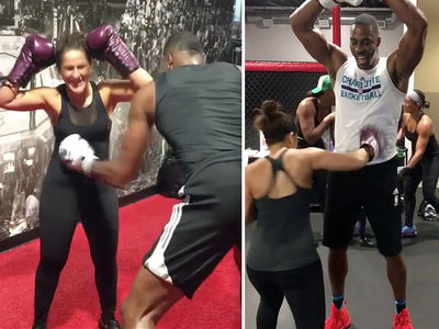 Dwight Howard Trades Blows with Female Fighter