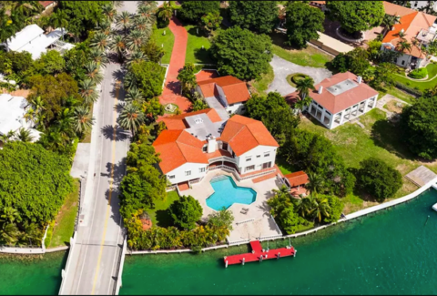 Roy & Lea Black's home on Star Island is $25,000,000 and features 190 ft. of waterfront.