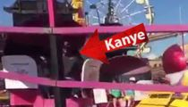 Kanye West Takes North West on Teacup Ride