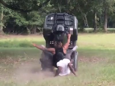 LSU's Derrius Guice Nearly Flips ATV, Barely Escapes Disaster