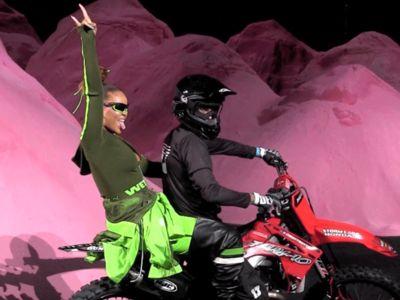Rihanna Revs Up Fashion Week with Motocross-Themed Fashion Show