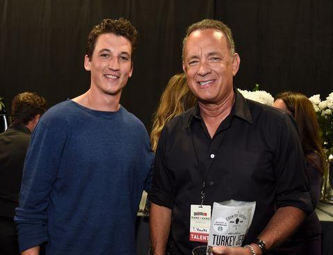 Miles Teller and Tom Hanks