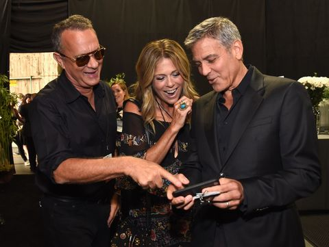 Tom Hanks, Rita Wilson and George Clooney