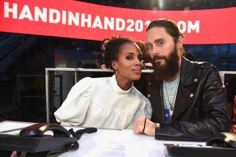 Kerry Washington and Jared Leto