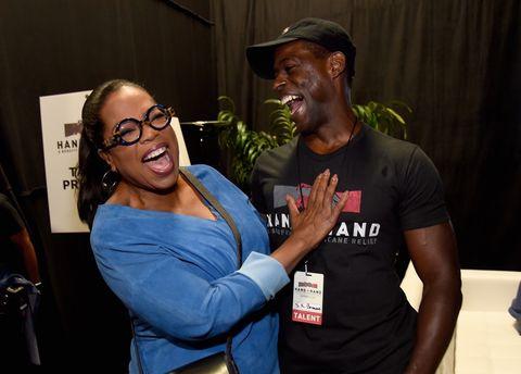 Oprah Winfrey and Sterling K. Brown