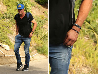 Josh Duhamel Takes a Solo Hike with No Wedding Ring on His Finger