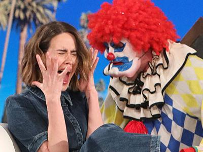 Watch Ellen Scare 'Horror Story: Cult' Star Sarah Paulson an EPIC Three Times -- So, So Good!