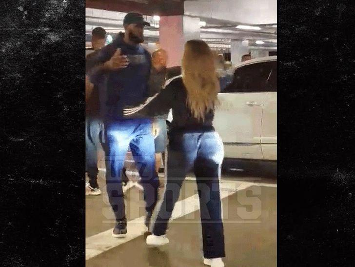 LeBron James & Khloe Kardashian Hug It Out After 'Horror' Night