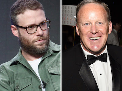 Seth Rogen Shares NASTY Way He'd Greet Sean Spicer at a Party