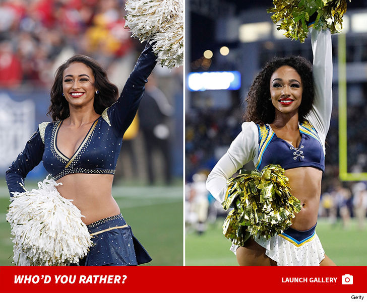 It's the L.A. Rams vs. the L.A. Chargers in the ultimate football showdown ... the battle for the hottest cheerleaders!