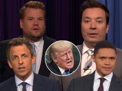 Late-Night Comedians Are BAFFLED by Trump's 'Rocket Man' Nickname for Kim Jong-un