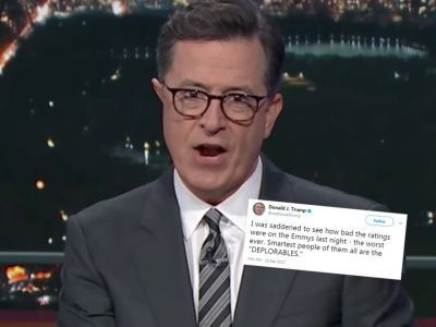 Colbert RIPS APART Trump's 'Factually INCORRECT' Emmys Tweet: 'NOT Something to Be SAD About'
