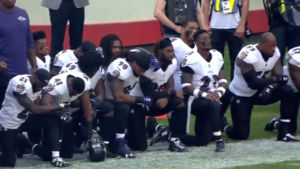 Jaguars, Ravens Players, Massive Kneeling at London Game