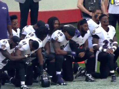 Jaguars, Ravens Players, Massive Kneeling at London Game