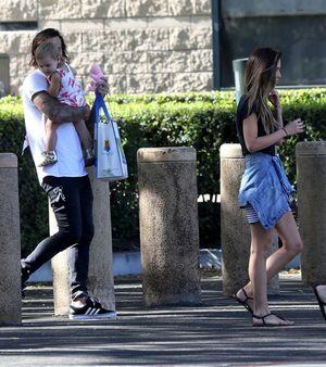 Audrina Patridge meets Corey Bohan to hand over Daughter