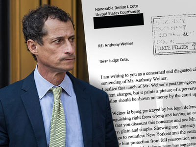 Anthony Weiner is a 'Danger to Our Society' ... Disgusted NYer Writes to Judge