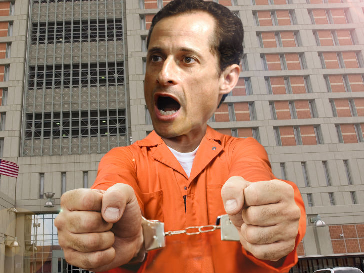 Anthony Weiner Frightened of Prison Beatdown Because of Pedophile Label
