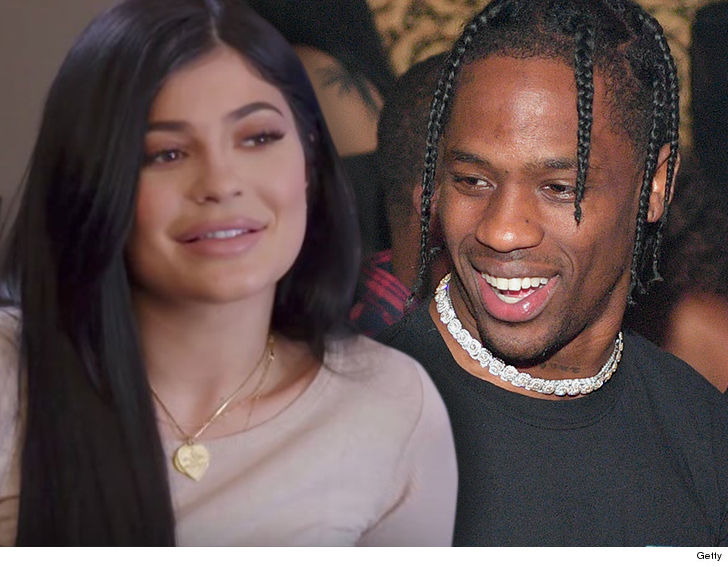 Soon-to-be dad Travis Scott with pregnant Kylie Jenner