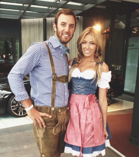 Dustin Johnson and Paulina Gretzky!