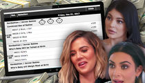 Kim, Khloe & Kylie Baby Prop Bets: Lots of Dough if You Go With Them Boys!!!