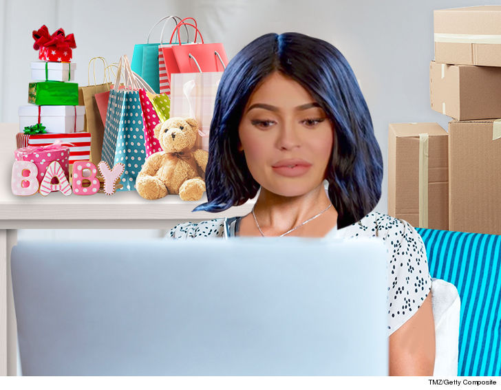 Kylie Jenner Shelling Out and Stocking Up On High End Baby Gear