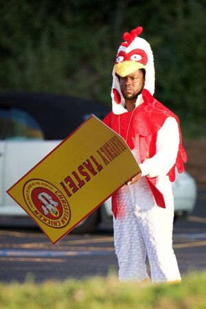 Kevin Hart Filming in a Chicken Suit -- Behind the Scenes
