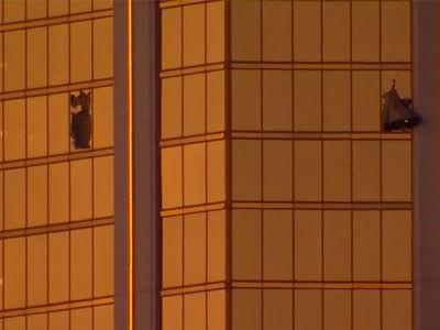 Las Vegas Shooter Stephen Paddock's Hotel Room Windows Shot Out